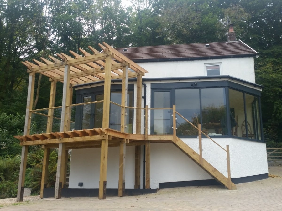Modern Contemporary Extension to Cottage in Bridgend